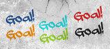 Kinderbehang paneel: Voetbal Goal met naam_
