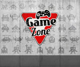 Behang kinderkamer game zone