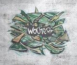 Grafitti behang met naam kinderkamer