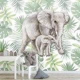 jungle behang olifanten