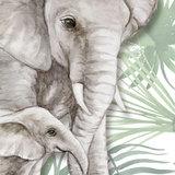 Jungle behang olifanten detail