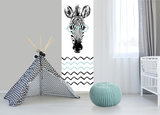 Babykamer mint zebra behang