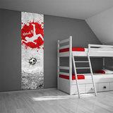 Muurdecoratie voetbalkamer rood