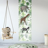 kinderbehang botanisch jungle kinderkamer jungledieren