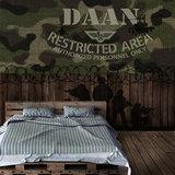 Legerkamer behang camouflage