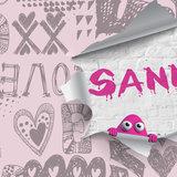 fotobehang meisjes roze detail