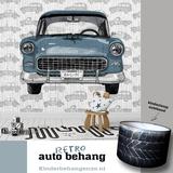 fotobehang auto met naam en autolamp