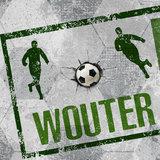 voetbal behang groen grijs detail