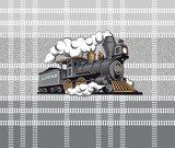 Trein behang grijs oker