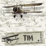 vliegtuig behang vintage detail