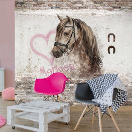 Behang paard met eigen naam
