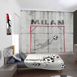 Voetbal behang met eigen naam