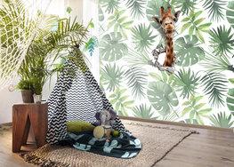 Jungle behang met giraf