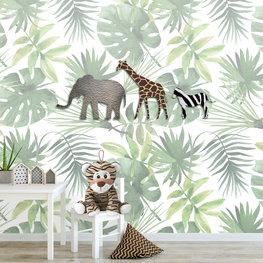 Fotobehang jungle dieren