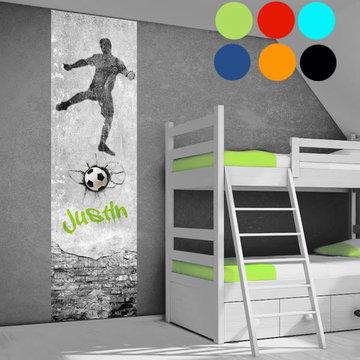 Kinderbehang paneel: Voetbal Goal met naam