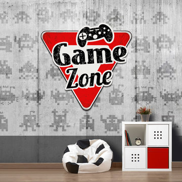 Games behang - Game zone