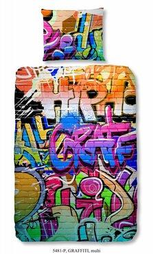 Graffiti dekbed 1 persoons