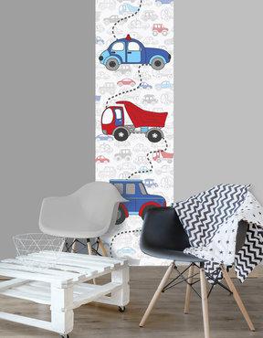 Jongens behang paneel: Auto's vroemmm