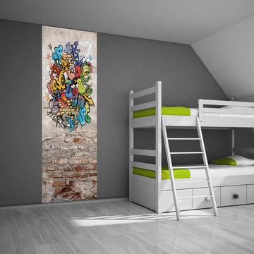 Kinderbehang paneel: Graffiti muur