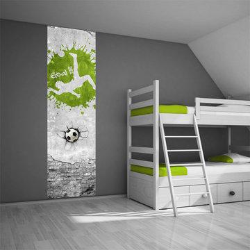 Kinderbehang paneel: Voetbal groen