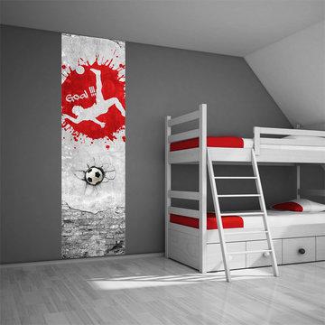 Kinderbehang paneel: Voetbal rood