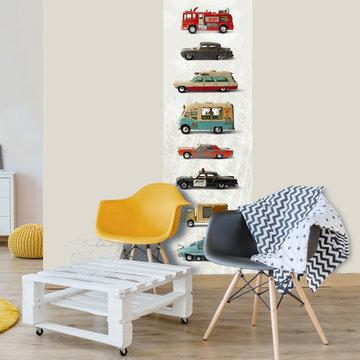 Jongens behang paneel: Dinky toys auto's