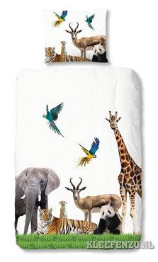 Jungle dieren dekbedovertrek | Junglekamer idee