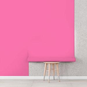 Uni kinderbehang donker roze
