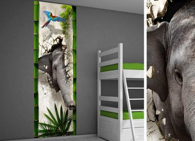muursticker junglekamer idee