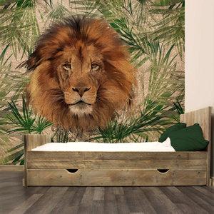 Fotobehang jungle kinderkamer leeuw